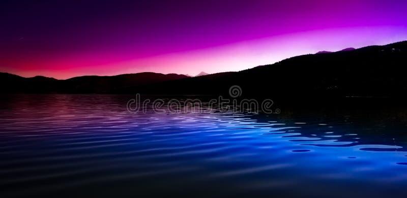 La violeta sunrize fotografía de archivo libre de regalías