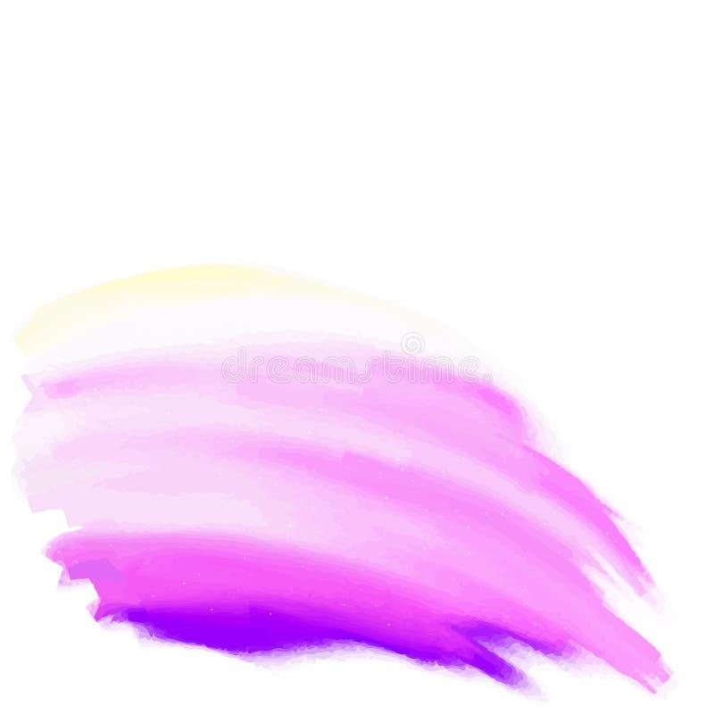 La violette a isolé la tache de papier tirée par la main de texture d'aquarelle sur le fond blanc pour la conception des textes,  illustration de vecteur