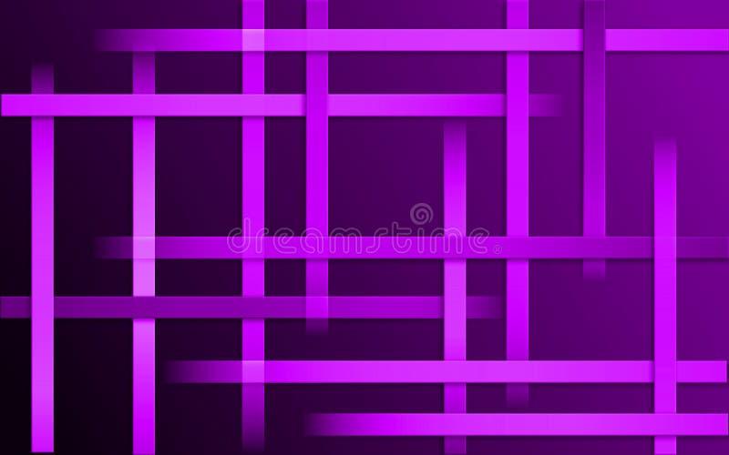 La violette pourpre de recouvrement barre le fond - papier peint simple abstrait de mosaïque de modèle de barres illustration stock