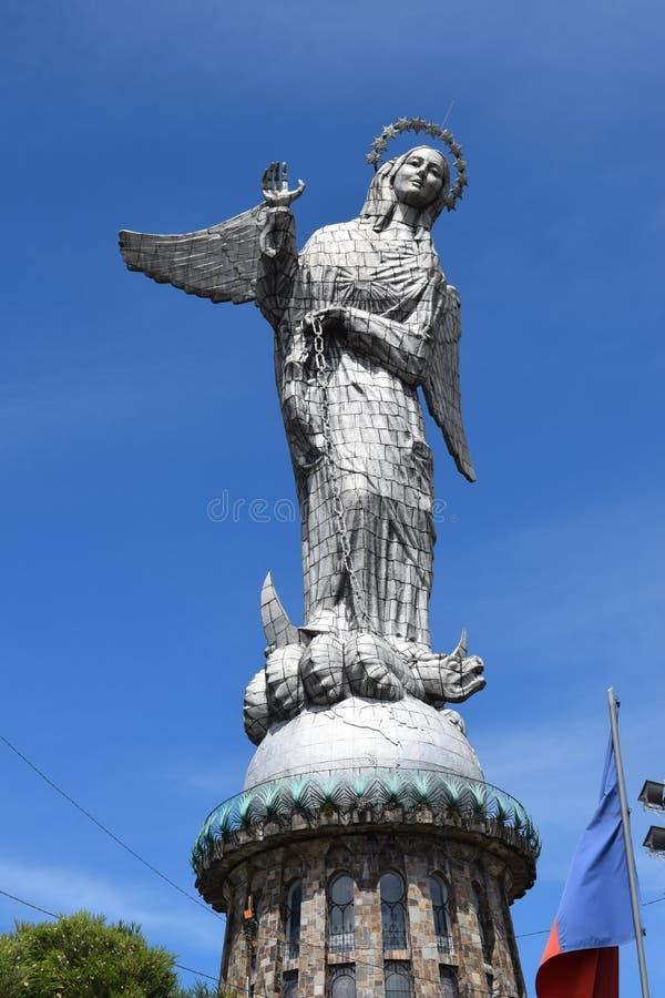 La Virgen de Quito foto de archivo