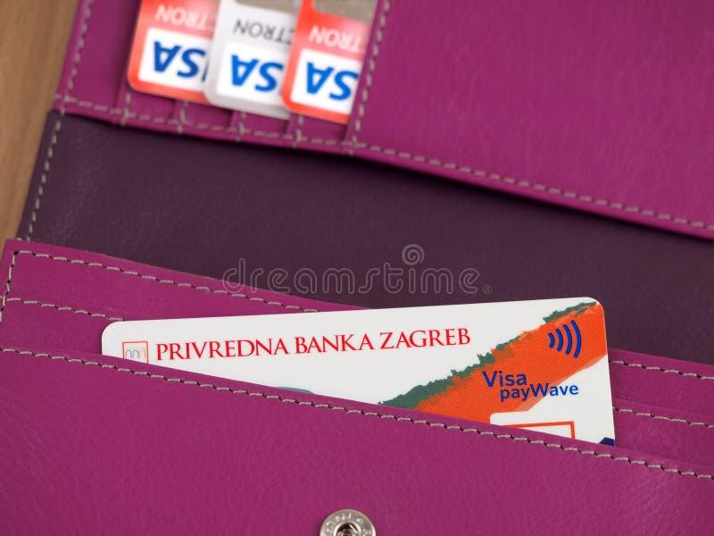 La visa inspira la tarjeta imagenes de archivo