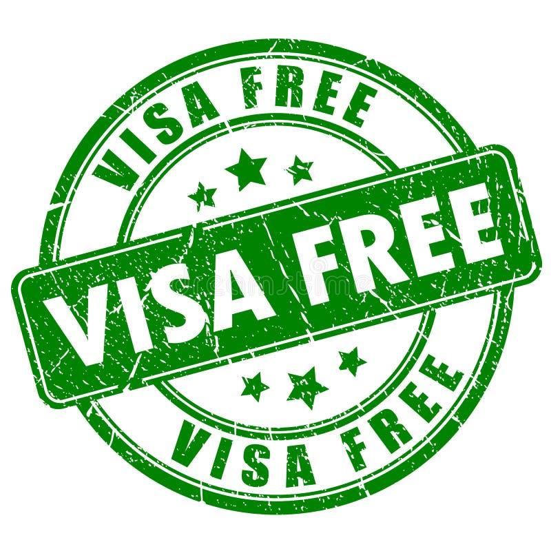 La visa libera el sello de goma libre illustration