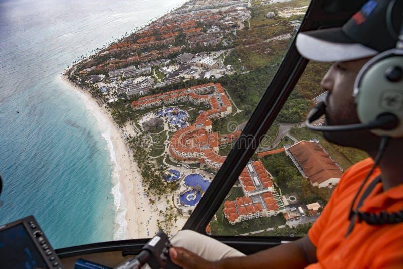 La visión desde la altura de la costa de la República Dominicana imágenes de archivo libres de regalías