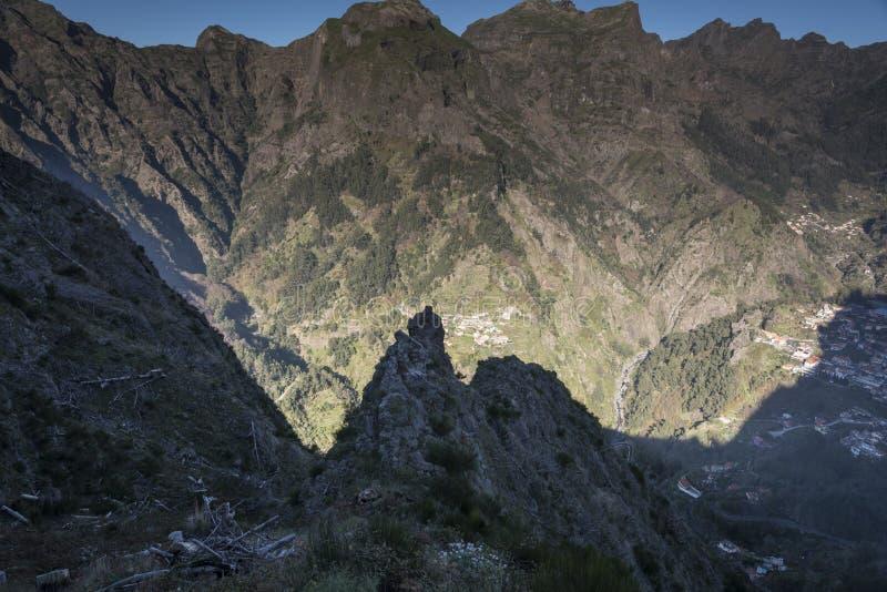 La visión desde el Eira hace Serrado Madeira Portugal foto de archivo