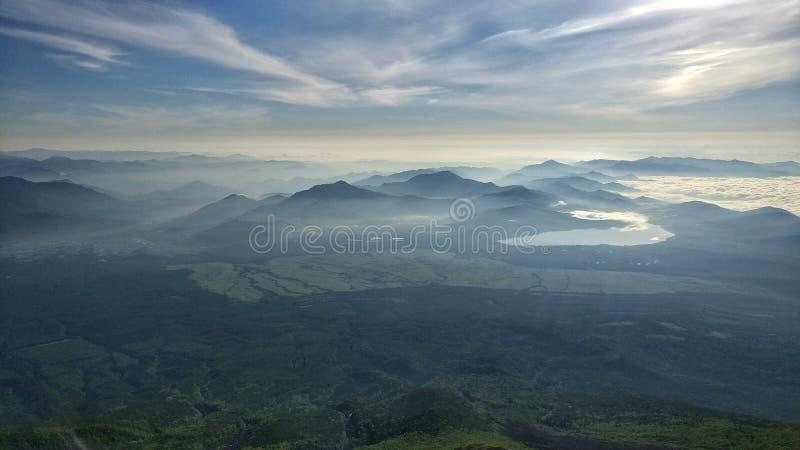 La visión desde el monte Fuji imagenes de archivo