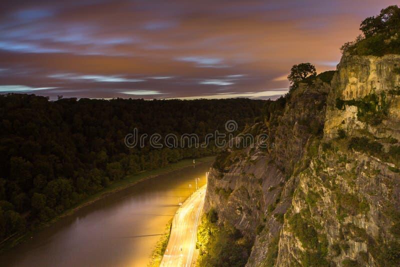 La visión desde el puente de Clifton Suspension fotografía de archivo libre de regalías
