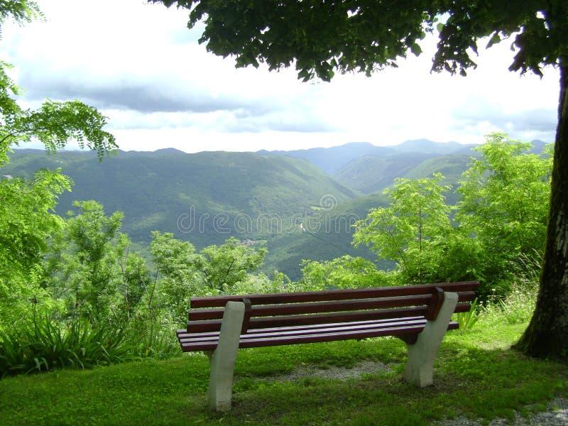 La visión desde la montaña, Eslovenia fotografía de archivo libre de regalías