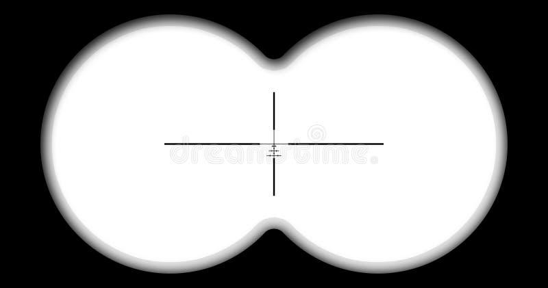 La visión desde los prismáticos ilustración del vector