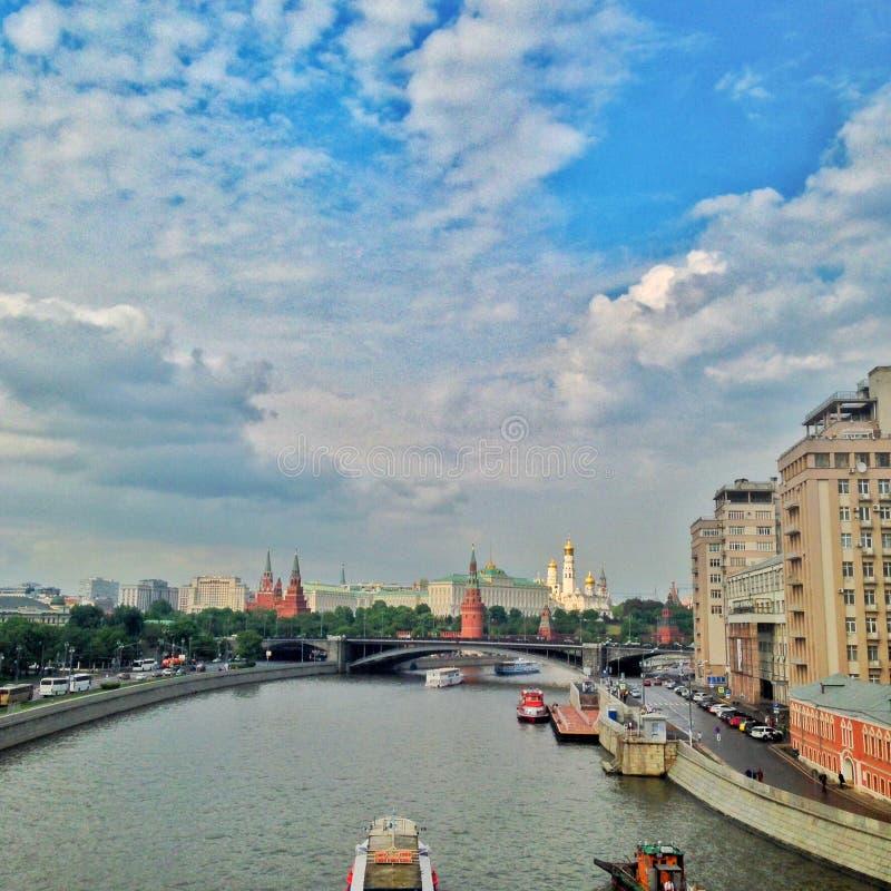 La visión sobre Kremin en Moscú foto de archivo libre de regalías