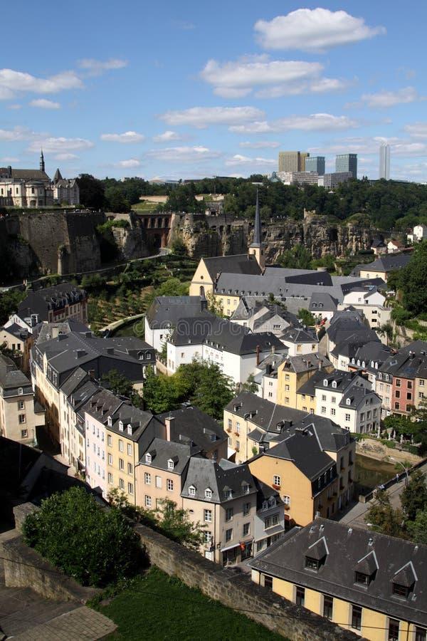 La visión sobre Luxemburgo fotografía de archivo