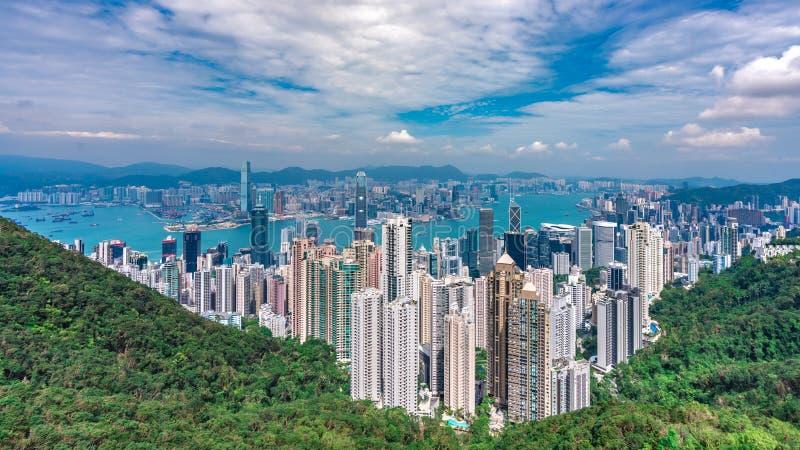 La visi?n m?xima en Hong Kong imagen de archivo