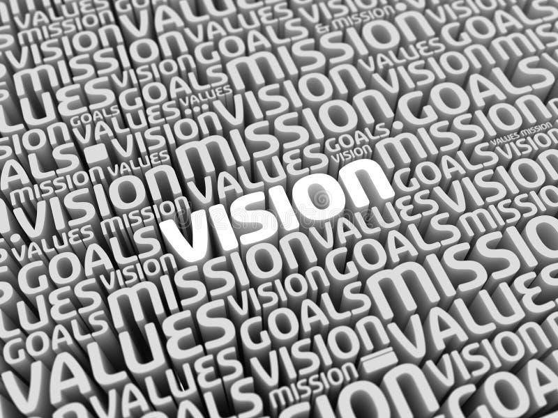 La vision de mission évalue des buts illustration stock
