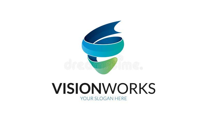 La visione funziona il logo royalty illustrazione gratis