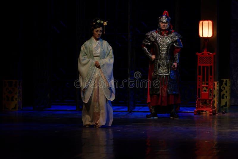 La visita de la princesa de Lou- del acto en segundo lugar: la noche del drama histórico ejército-grande, ` Yangming ` de tres no imagen de archivo libre de regalías