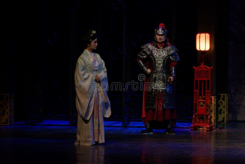 La visita de la princesa de Lou- del acto en segundo lugar: la noche del drama histórico ejército-grande, ` Yangming ` de tres no foto de archivo libre de regalías