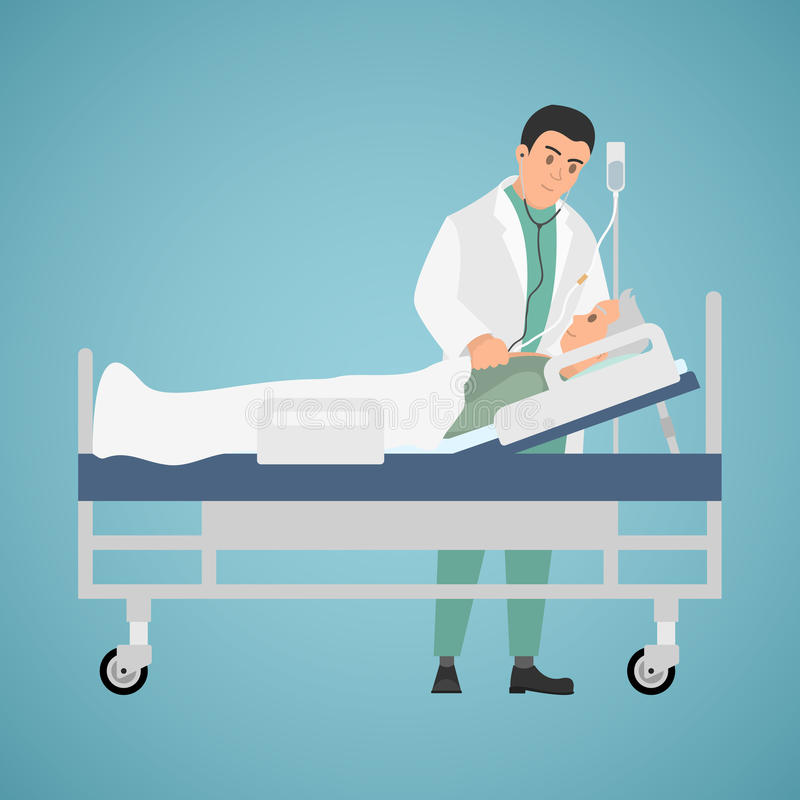 La visita di medico al paziente immagine stock