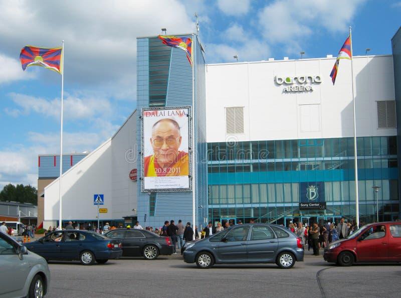 La visite de Dalai Lama vers la Finlande photographie stock libre de droits