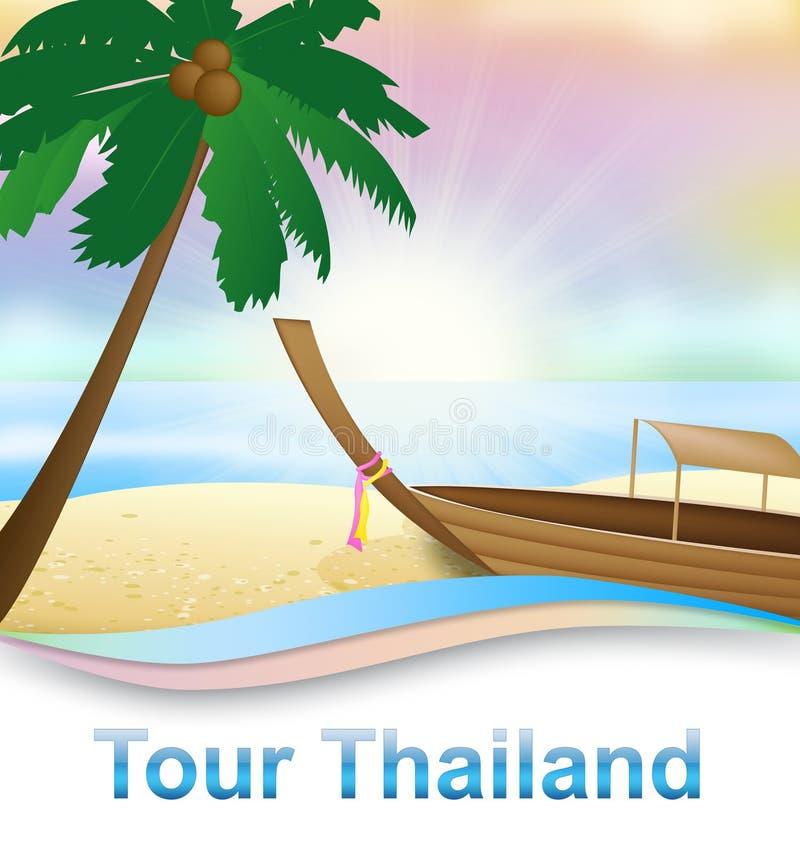 La visite Thaïlande montre l'illustration 3d de déplacement thaïlandaise illustration de vecteur