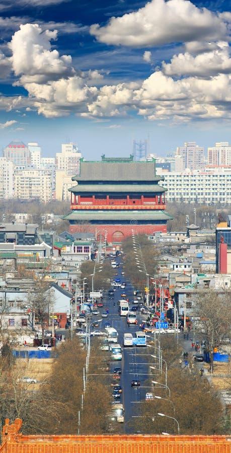 La vista aérea de la ciudad de Pekín imagen de archivo libre de regalías