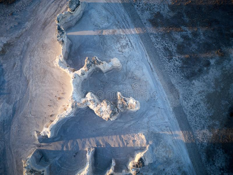 La vista aérea de las pirámides de la tiza, monumento oscila fotografía de archivo