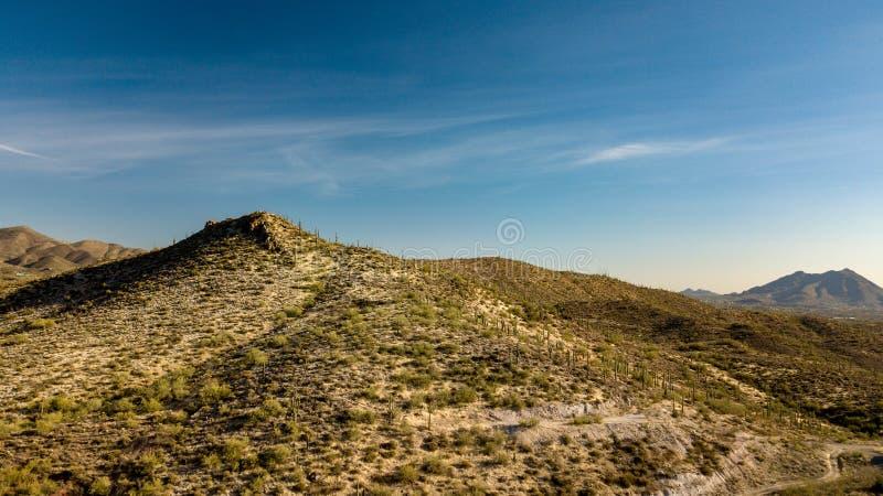 La vista aerea del parco regionale del ranch dell'incrocio del dente cilindrico vicino scava l'insenatura, Arizona fotografia stock