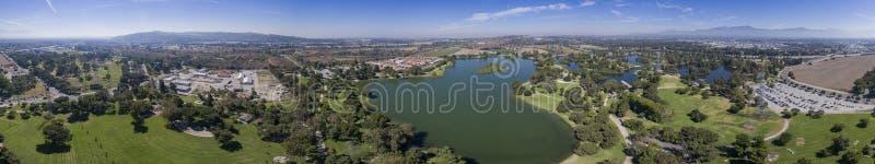 La vista aerea di Whittier restringe la ricreazione fotografia stock