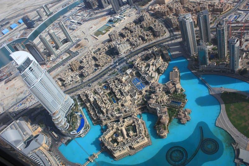 La vista areale della Doubai del centro immagini stock libere da diritti