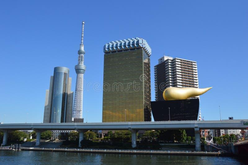 La vista da Asakusa, Tokyo, Giappone immagine stock