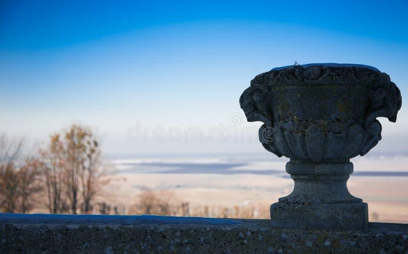 La vista dal castello di Pidgirtsi immagine stock libera da diritti