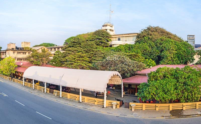 La vista dal nuovo faro a Colombo immagine stock