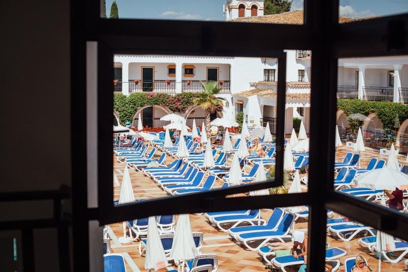 La vista dall'hotel all'hotel! fotografie stock