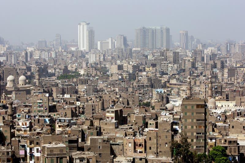 La vista dalla cittadella di Il Cairo (cittadella di Salah Al-Din) a Il Cairo, Egitto fotografie stock