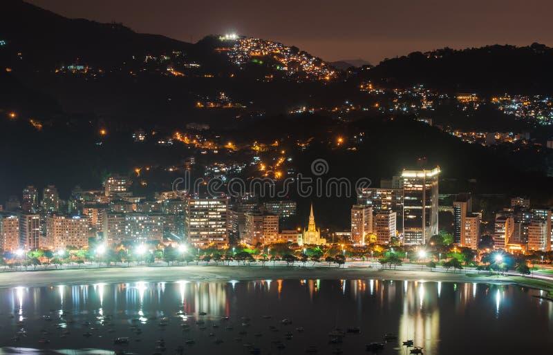 La vista de Botafogo y Guanabara aúllan en Rio de Janeiro imágenes de archivo libres de regalías