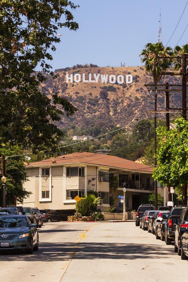 La vista de Hollywood firma adentro Los Ángeles foto de archivo libre de regalías