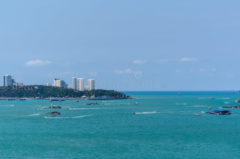 Vista de la ciudad de pattaya fotografía de archivo libre de regalías