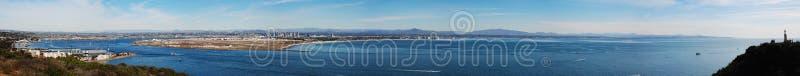 A la vista de San Diego fotos de archivo