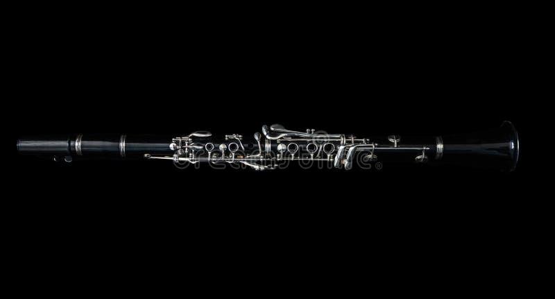 A la vista de un clarinete que se acuesta foto de archivo libre de regalías