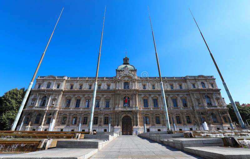La vista del edificio de la prefectura de Marsella, Francia imagen de archivo