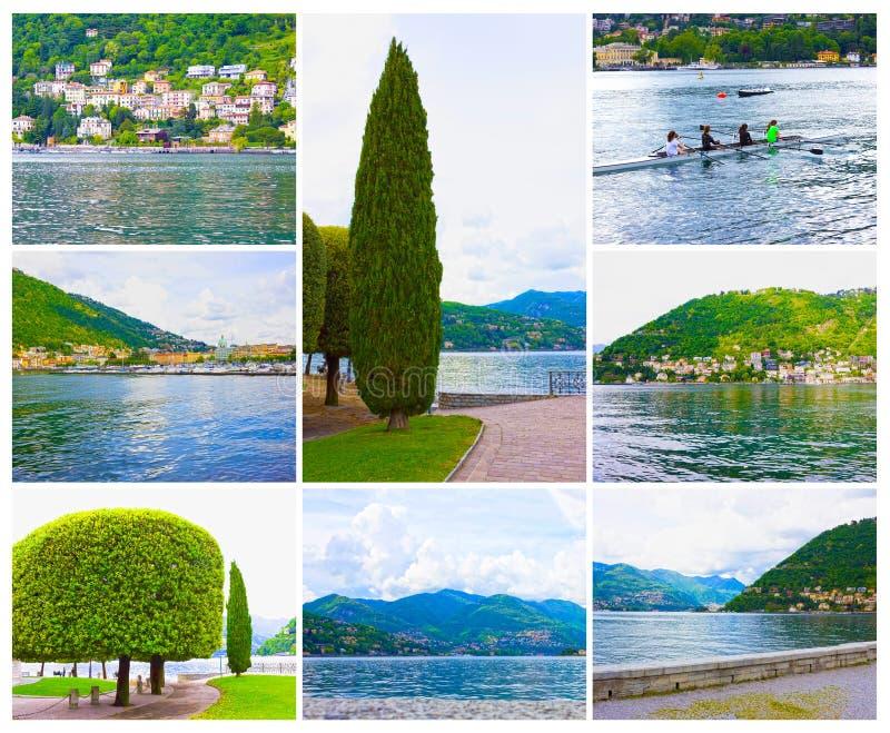La vista del lago Como, Bellagio, Italia foto de archivo