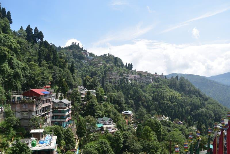A la vista del lazo del batasia darjeeling la India imagen de archivo libre de regalías