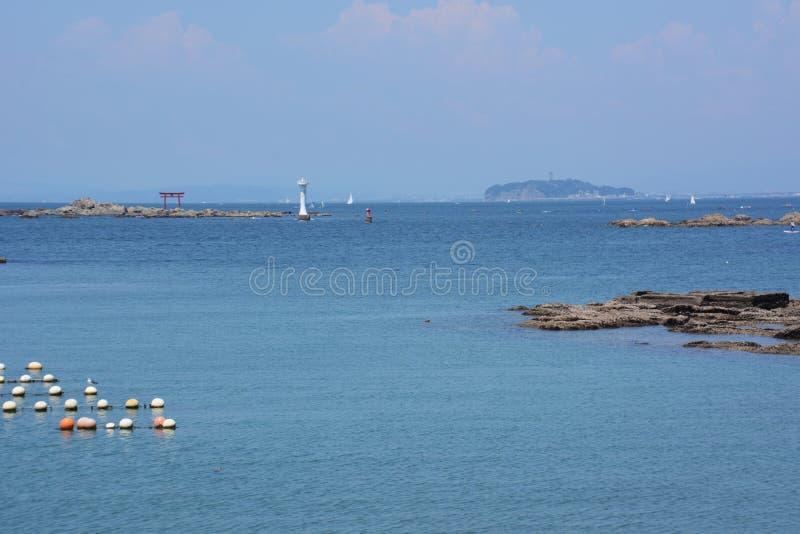 La vista del mar del verano foto de archivo