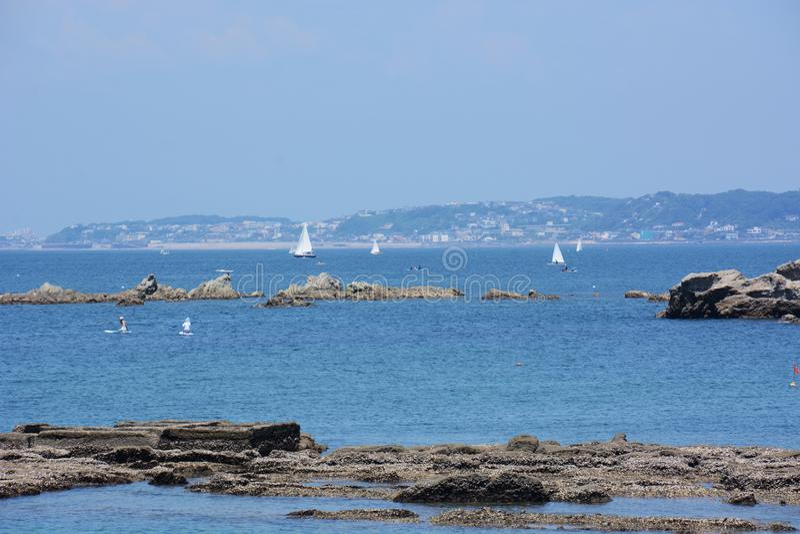 La vista del mar del verano fotos de archivo