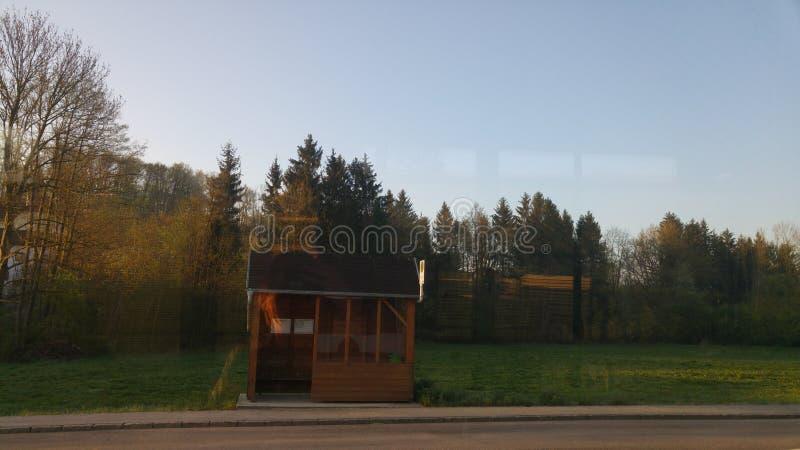 La vista del mio bus fotografia stock libera da diritti