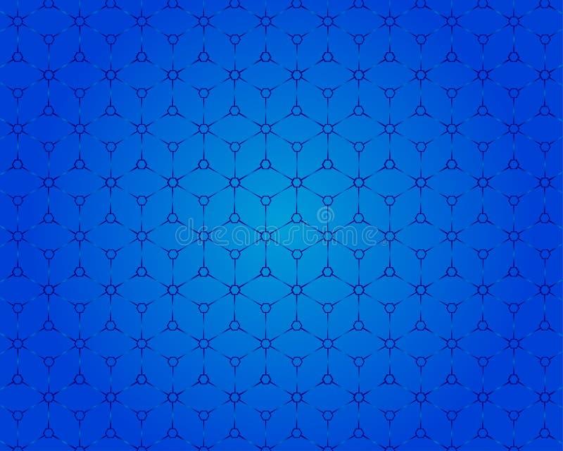 La vista del modello 3D della scatola quadrata è un fondo blu illustrazione vettoriale