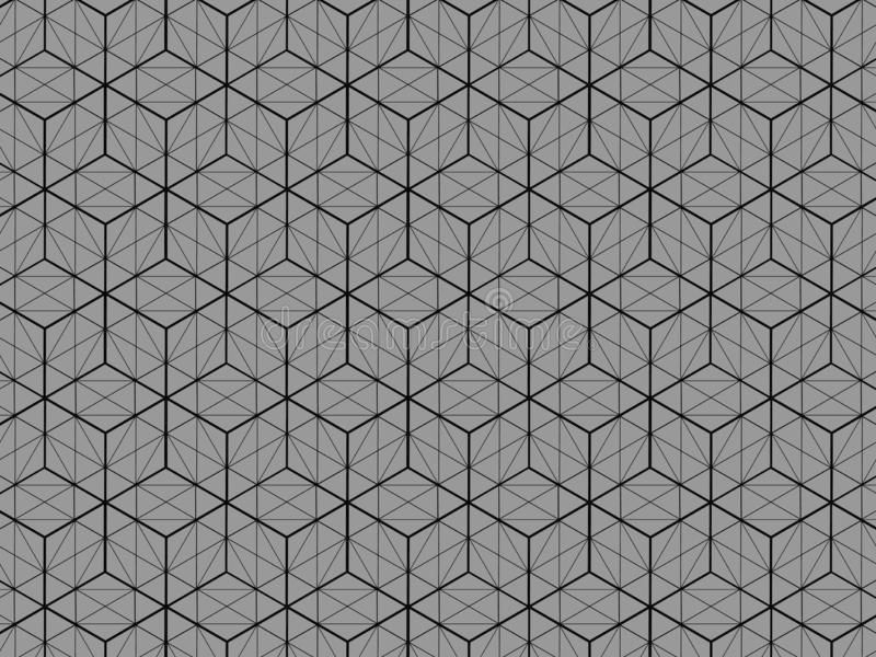 La vista del modello 3D della scatola quadrata è un fondo grigio illustrazione di stock
