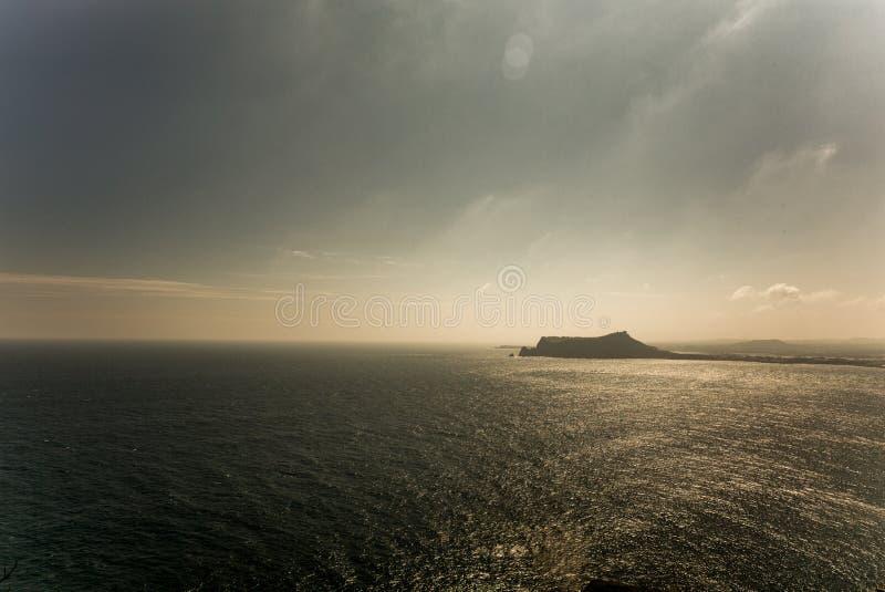 La vista del paesaggio dal picco di Udo-bong immagine stock libera da diritti