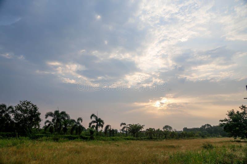 La vista del tramonto fotografia stock