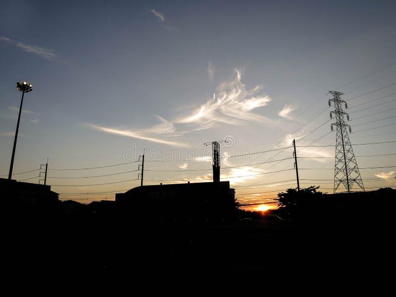 La vista del tramonto fotografie stock