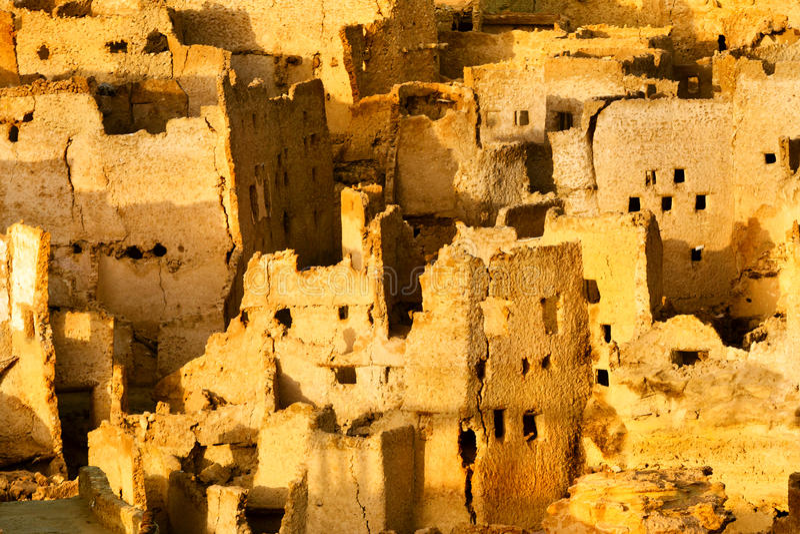 La vista dell'oasi di Siwa è un'oasi nell'Egitto immagini stock