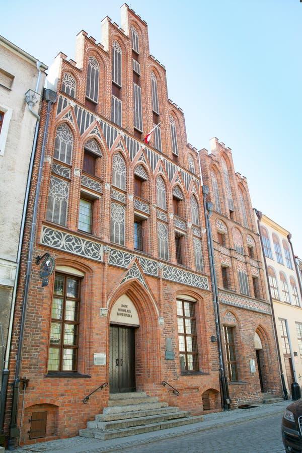 La vista della casa di Kopernik a Torum fotografia stock libera da diritti